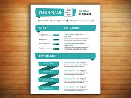 new one page resume template the u0027cyan u0027 resume template new york