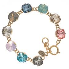 bracelet color crystal images Large stone crystal bracelet all colors in silver and gold jpg