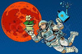 Halloween Character Cartoon Royalty Free Vector Image 49 962 by Colonization Mars Astronaut Plants Irrigation Pop Art Retro Style