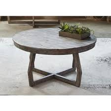 gray reclaimed wood coffee table shop for hayden way gray wash reclaimed wood round cocktail table