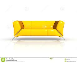 yellow leather sofa stock illustration illustration of design