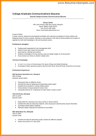 Sample College Graduate Resume by 70 College Graduate Resume Examples Example Resume College