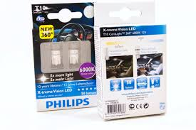 t10 194 philips x treme vision automotive led bulbs from the