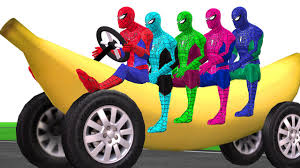 Colors Colors Spiderman Vehicle Banana Car Motorbike Boat And More