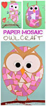construction paper mosaic owl craft easy arts and craft for kids