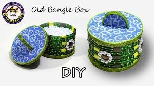 best out of waste how to make storage box from old waste bangles