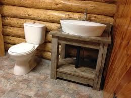 Log Siding For Interior Walls Captivating Rustic Bathroom Vanity Base From Distressed Walnut