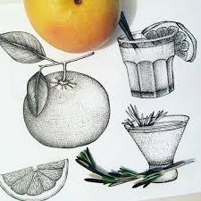 cocktail drawing когда нибудь я их дорисую в следующем году точно грейпфрут