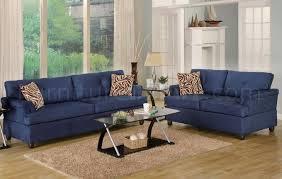 navy blue sofa and loveseat navy microfiber plush contemporary sofa loveseat set