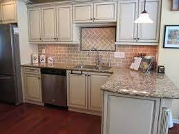 how to whitewash brown cabinets whitewashed brick backsplash tile with white kitchen cabinets