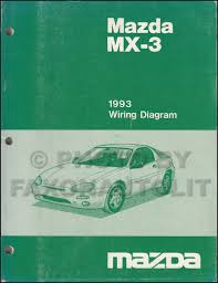 1993 mazda mx 3 repair shop manual original