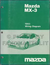 1993 mazda mx 3 repair shop manual original