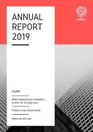 annual report templates canva