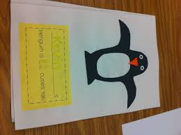 penguin writing paper penguins polar animals and some other fun activities mrs i got the penguin