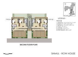 row house floor plan hiland bonochhaya property in santiniketan offering villas row