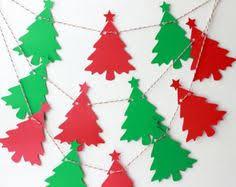 paper christmas tree garland google search diy christmas