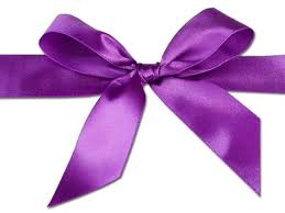 purple ribbons volunteers to tie town purple for domestic violence awareness