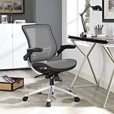 Modern Office Chairs Mesh Amazon Com Modway Edge All Mesh Office Chair With Flip Up Arms In