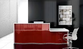 White Gloss Reception Desk Modern Gloss Office Reception Desk Wave Reception Counter