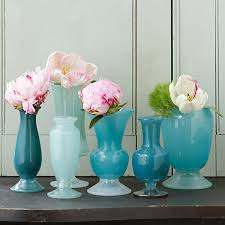 Tiffany Blue Vase Frosted Blue Vase Collection Terrain