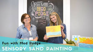 sensory sand painting for kids with mod podge youtube