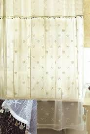 Sheer Shower Curtains Cottage Sheer Shower Curtain Nautical Luxuries
