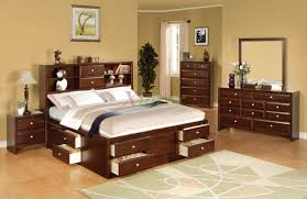 a lot of bedroom storage ideas for the better yet well organized astonishing design of the bedroom storage furniture with brown wooden frame bed ideas with brown wooden