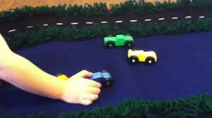 handmade crochet race track rug and wooden toy race car set youtube