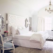 pure white tufted headboard for my big apartment