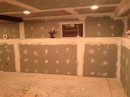 second coat basement drywall mud