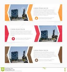 layout banner design business web header or banner design stock illustration