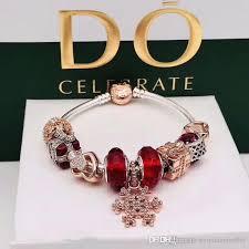 pandora bracelet gift images 2018 rose gold pandora bracelets snowy christmas gifts s925 jpg