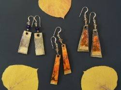 paper mache earrings recycled earrings handmade in south shore tahoe arts and