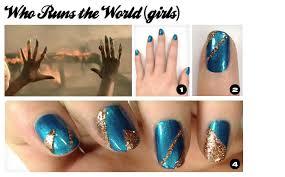nail art using scotch tape nail art step by step