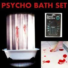 psycho bathroom set bloody bath mat u0026 shower curtain bonus