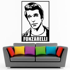 aliexpress com buy the fonzarelli head silhouette wall sticker aliexpress com buy the fonzarelli head silhouette wall sticker vinyl room house wall decorative wall mural fonz with guitar wallpaper y 861 from reliable