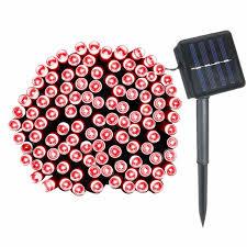 solar power led lights 100 bulb string 12m solar power 100 led light string outdoor lighting garden