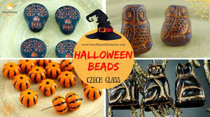 halloween czech glass beads different designs u0026 finishes youtube