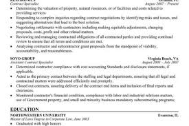 Procurement Specialist Resume Samples by Contract Specialist Resume Sample Summary Reentrycorps