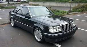 for sale mercedes a gloriously stealthy 1992 porsche made mercedes 500e is up for sale