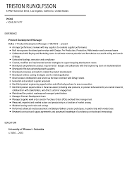 Resume Sample Resume Marketing Manager by Product Management Resume Samples Sample Resume Marketing Product