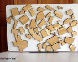 us map puzzle wood usa rivers lakes map puzzle birch plywood