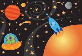 Wallpaper For Children Alien Spaceship Wallpaper For Children Room