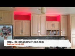 installing kitchen cabinets youtube installed accent led strip lights on kitchen cabinets youtube