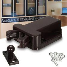 Magnetic Cabinet Latches Double Magnetic Touch Latch Brown Ebay