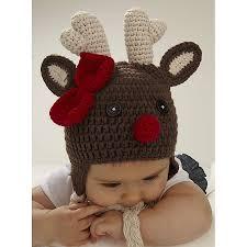 christmas reindeer infant crochet hat infant crochet and babies