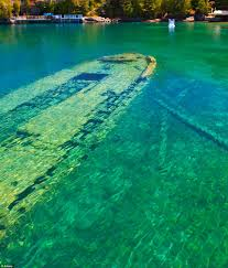 Clearest Water In The World World S Most Beautiful Shipwreck Haunting Hull Of Sweepstakes