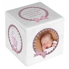 baby urns baby girl color photo block urn in the light urns