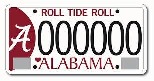 of alabama alumni car tag ua raises most among alabama colleges with 2011 license plate