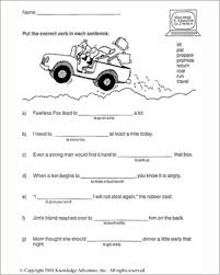 action word usage u2013 printable 2nd grade english worksheet